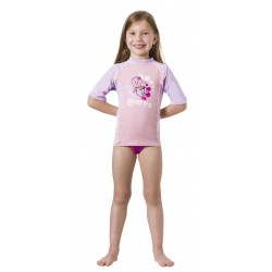 Koszulka Rash Guard KID S/Sleeve  ( UPF50+ ) GIRL